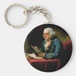 Retrato de Benjamin Franklin Llaveros Personalizados