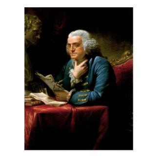 Retrato de Benjamin Franklin Postal