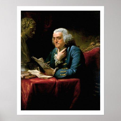 Retrato de Benjamin Franklin Póster