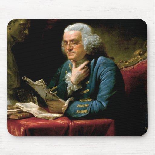 Retrato de Benjamin Franklin Tapetes De Ratón