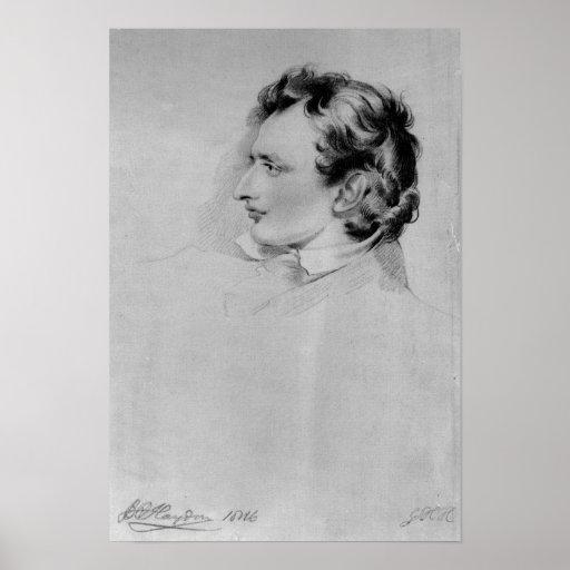 Retrato de Benjamin Roberto Haydon Póster