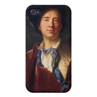 Retrato de Bernard le Bovier de Fontenelle iPhone 4 Fundas