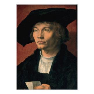 Retrato de Bernard von Reesen por Durer Invitación Personalizada