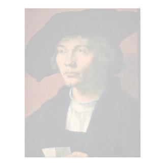 Retrato de Bernard von Reesen por Durer Plantilla De Membrete