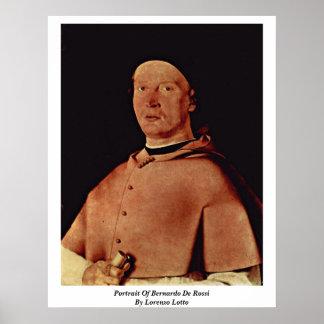 Retrato de Bernardo de Rossi de Lorenzo Lotto Posters