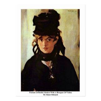 Retrato de Berthe Morisot Postal