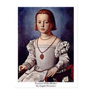 Retrato de Bia Medici de Ángel Bronzino Tarjetas Postales