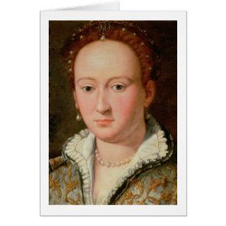 Retrato de Bianca Cappello c 1580 aceite en el c Tarjeton