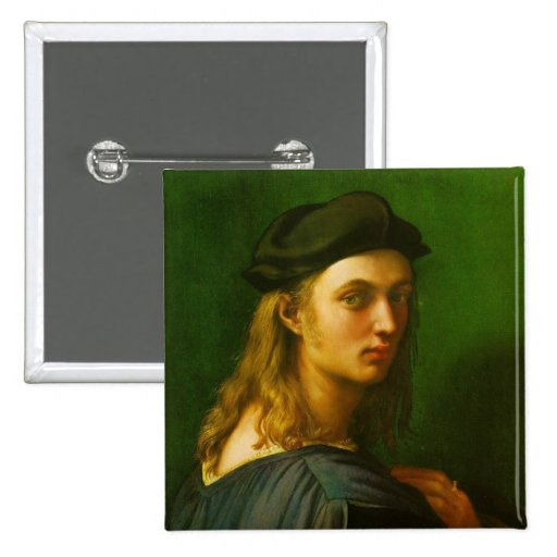 Retrato de Bindo Altoviti Pin Cuadrada 5 Cm