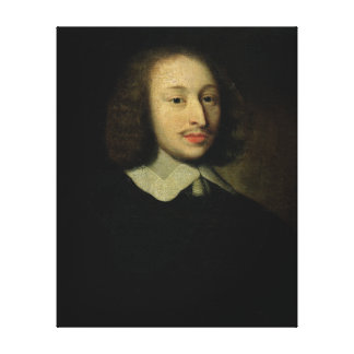 Retrato de Blaise Pascal Impresiones En Lona