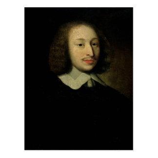 Retrato de Blaise Pascal Postales