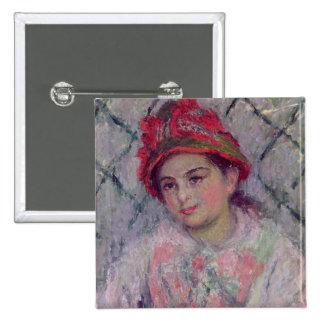 Retrato de Blanche Hoschede Pin Cuadrado