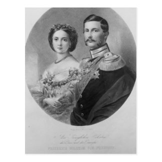 Retrato de boda de sus altezas reales postal