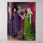 Retrato de boda en enero Van Eyck - arte del Poster