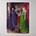 Retrato de boda en enero Van Eyck - Posters