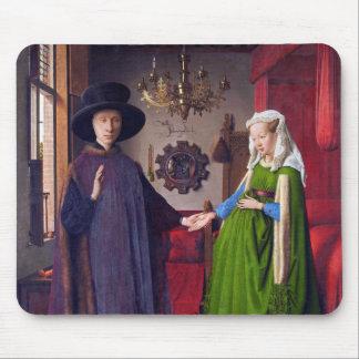 Retrato de boda en enero Van Eyck Tapete De Raton