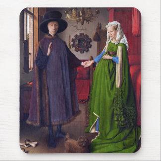 Retrato de boda en enero Van Eyck Alfombrilla De Ratón