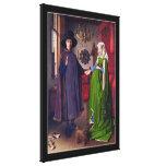 Retrato de boda en van Eyck - 3D envolvió la lona Impresiones De Lienzo