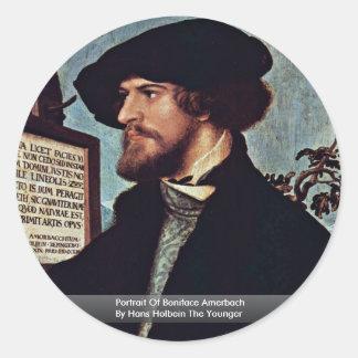 Retrato de Bonifacio Amerbach Etiquetas Redondas