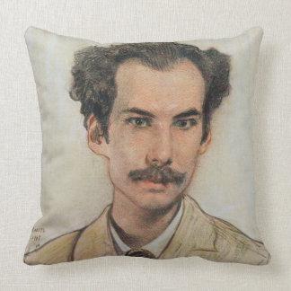 Retrato de Boris Nikolayevich Bugaev (1880-1934) Cojín Decorativo