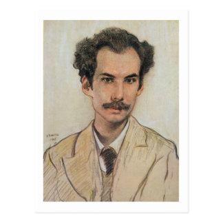 Retrato de Boris Nikolayevich Bugaev (1880-1934) Postal