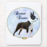 Retrato de Boston Terrier Tapetes De Ratones