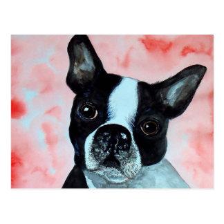 Retrato de Boston Terrier Postal
