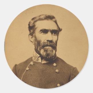 Retrato de Braxton Bragg (entre 1861 y 1865) Pegatina Redonda