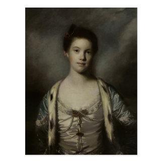 Retrato de Bridget Moris de Joshua Reynolds Postal