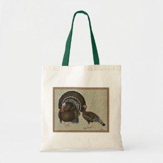 Retrato de bronce estándar de los pavos bolsa tela barata