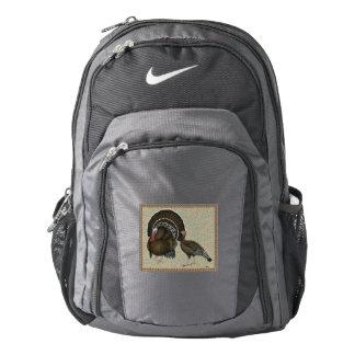 Retrato de bronce estándar de los pavos mochila