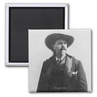 Retrato de Buffalo Bill Imán Cuadrado