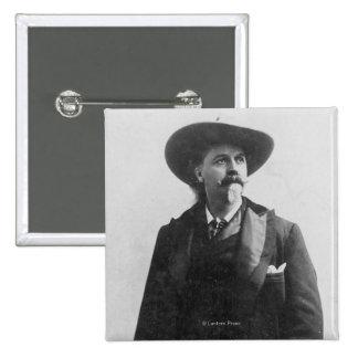 Retrato de Buffalo Bill Pin Cuadrada 5 Cm