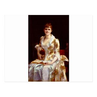 Retrato de Cabanel Alejandro de la señora joven Postales