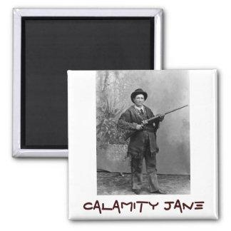 Retrato de Calamity Jane Imán Cuadrado