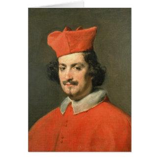 Retrato de Camillo cardinal Astali Pamphili Tarjeta De Felicitación