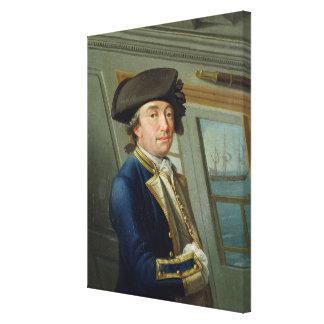 Retrato de capitán Guillermo Locker (1731-1800) 17 Impresión En Lienzo