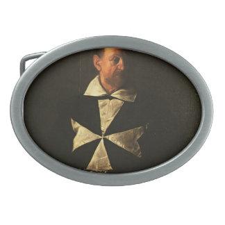 Retrato de Caravaggio- de Fra Antionio Martelli Hebillas De Cinturon Ovales