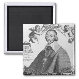 Retrato de Cardinal de Richelieu Imán Cuadrado