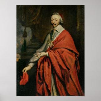 Retrato de Cardinal de Richelieu Posters