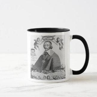 Retrato de Cardinal de Richelieu Taza