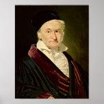 Retrato de Carl Friedrich Gauss, 1840 Póster