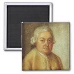 Retrato de Carl Philipp Manuel Bach, c.1780 Imán Cuadrado