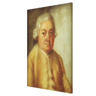 Retrato de Carl Philipp Manuel Bach, c.1780 Lienzo Envuelto Para Galerías
