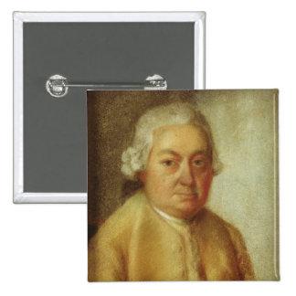 Retrato de Carl Philipp Manuel Bach, c.1780 Pin Cuadrado