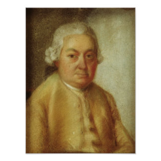 Retrato de Carl Philipp Manuel Bach, c.1780 Póster