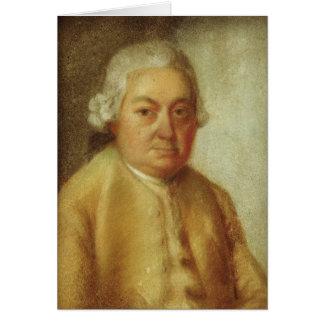 Retrato de Carl Philipp Manuel Bach, c.1780 Tarjeton
