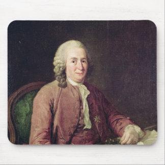 Retrato de Carl von Linnaeus Alfombrillas De Raton