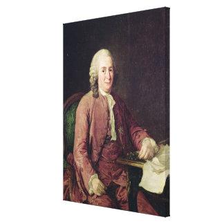 Retrato de Carl von Linnaeus Lienzo Envuelto Para Galerías