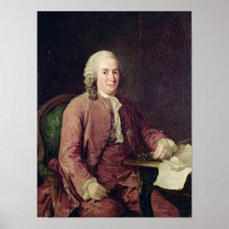 Retrato de Carl von Linnaeus Póster